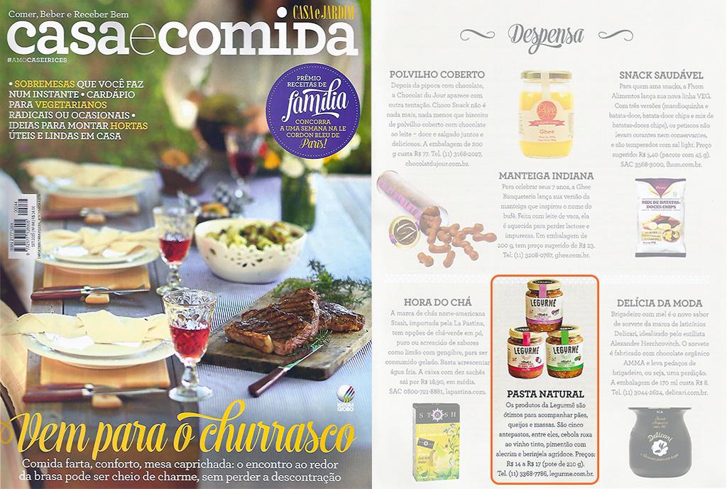 Legurmê na revista Casa e Comida