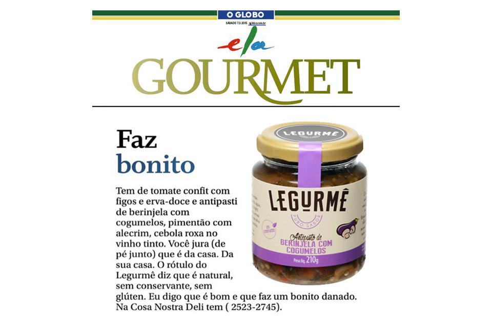 Legurmê no Jornal O Globo